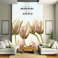Mural wallpaper restaurant sofa background wall partition screen modern abstract wallpaper flower