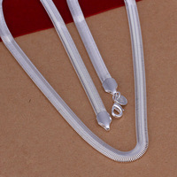 Wholesale Fashion cheap jewelry 925 sterling silver 6mm 16-24 inch cartilage snake chain jewellery necklace