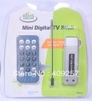 Free Shipping, USB 2.0 DVB-T digital HDTV TV Tuner Recorder Receiver with Remote Control MCX Port Antenna Antena