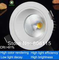 16X  CREE 10W COB LED Downlight Led Bulb COB LED LAMP Warm/Pure/Cool White free shipping