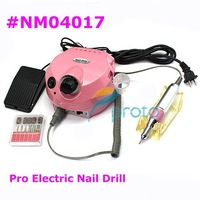Free ShippingFreeshipping-Pink NEW Electric Nail Drill for Nail Art Manicure Pedicure Salon and Home Use,110/220V SKU:E0001