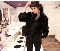 Free shipping 2013 autumn and winter all-match women's luxury elegant long-sleeve fur coat