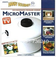 4 pieces RETAIL PP Material Micromaster Microwave Oven Pan High Temperature Pot As Seen On TV