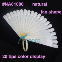 Freeshipping-10 X 20 tips Fan-Shaped Nail Polish Color Display Natural Chart for Polish Gel Color Display Tool SKU:F0024X