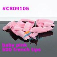 Free ShippingFreeshipping--500 Baby Pink Color Nails tips False Nail Art Tips Wholesales SKU:A0074X