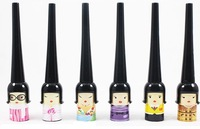 6 style lucky doll liquid eyeliner hard 5ml , eyeliner pen waterproof