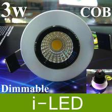 2p/lot  Dimmable cob led ceiling light  3w cob led down light Warm / pure White 2700k 110v 220v  CE&ROHS  Free shipping(China (Mainland))