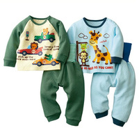Boy baby suit children suit warm winter long-sleeved T shirt + pants Kids clothes tracksuit baby suit Set kids pajama sets