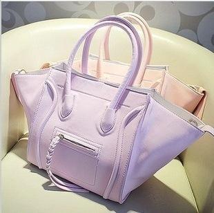 Free Shipping Colored Smiley Packet Phantom Wings Women Leather Handbag Messenger Bag Designer Handbag