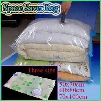 hot-sale 10pcs/lot Large Space Saver Saving Storage Bag Vacuum Seal Compressed Organizer 4 Size New