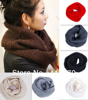 New HOT Ladies Women Winter Knitted Crochet Long Tube Scarf Shawl Collar Neck Warmer Unisex