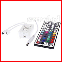 Free shipping 44-Key Wireless Infrared IR Remote Controller for RGB LED Light Strip(DC 12V)