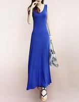 2013 bohemia spaghetti strap full dress spring and summer fashion modal vest one-piece dress full dress