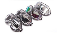 4PCS Brand New  Motorcycle Glasses dust goggle motorcycle goggles goggles   transparent/ brown/color/ silver