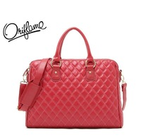 "2013 New Brand Power red 14"" Laptop bag Lady's leather bag handbag Free shipping"