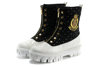 free shipping original 2013 ivg winter boots martin short zipper sploshes platform boots flat