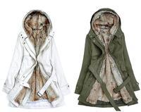 Hot Sale 2013 Faux fur lining women's warm long fur coat jacket clothes Parkas for women winter  wholesale Free Shipping Y0749