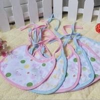 Free shipping !10 pcs/lot Japanese hotsale baby bibs,6-layer cotton gauze waterproof  towels,cartoon bibs for baby girls