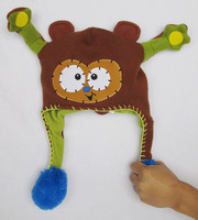 FLIPEEZ BROWN MONKEY BOY GIRL HAT ONE SIZE FITS ALL SO CUT