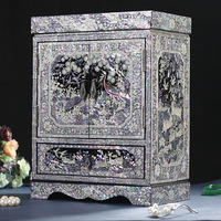 Classical solid wood jewelry cabinet jewelry box cosmetic box multi-layer