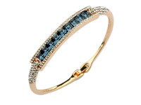 Wholesale Elegant HIGH QUALITY Fashion accessories costume Jewelry 18K Gold Austria crystal Bangle w/original Box package sh0391