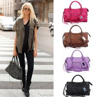 Celebrity Fashion Motorcycle Bags Faux Suede Women's Handbag Vintage Shoulder Cross-body Messenger Bag Tote Satchel Tassel Bag