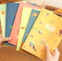 Black korea stationery animal a5 notepad diary tsmip f18