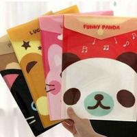Korea stationery cat cartoon animal pvc thread gluing file bag a4 kits 3 g71