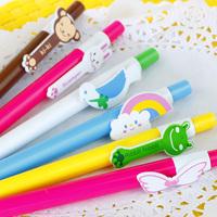 Black korea stationery animal candy color ball pen ballpoint pen a72