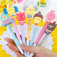 Korea stationery hello geeks animal style unisex 0.5mm pen c17