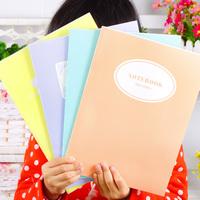 Korea stationery personalized fresh brief a4 a5 notebook notepad soft transcript sketch book f38