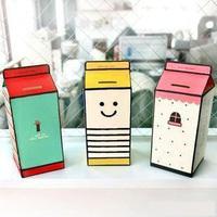 Korea stationery diy paper milk box piggy bank piggy bank piggy bank o32