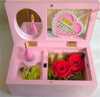 Ballet girl music box flower new arrival 2 birthday gift romantic
