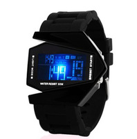Colorful led luminous fashion multifunctional fighter electronic watch student watch lovers silica gel Wristwatches