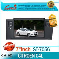 Factory Price autoradio gps navigation Citroen C4 L car dvd player with bluetooth radio dual zone 6CD 3G free shipping