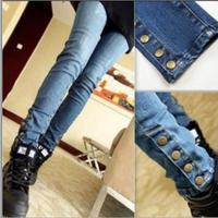 2014 xxl big size autumn maternity jeans trousers fashion rivet denim trousers for pregnant women slim belly belt pants