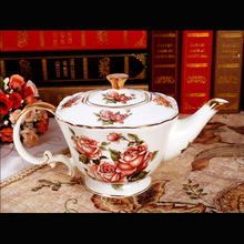Cheap Fifteen Pieces European Style Handpainted Pattern Ceramic Tea Coffee Set