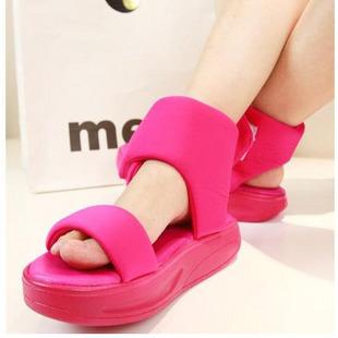 U.s. shoe all-match platform sandals female velcro platform shoes platform shoes swing shoes