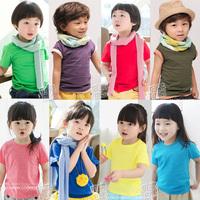 2013 summer candy all-match boys clothing girls clothing baby short-sleeve T-shirt tx-0910