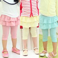 2013 summer girls clothing baby child layered skirt pants 5 legging pants kz-1619