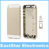 Champagne Gold Metal Back Housing Cover Faceplated with Middle Bezel Frame for iPhone 5S