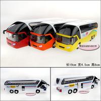 Plain luxury tourist bus alloy car model boy children boys model free air mail