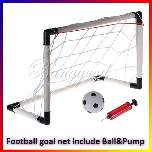 Mini portable folding Childs Goal Football Soccer door Post Net Ball Pump Set Kids Indoor Outdooor Sports Toy Free Shipping(China (Mainland))
