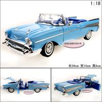 1:18 1957 CHEVROLET  Bel Alr webworm blue green alloy car model children boy toy model