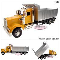 1:32 6 wheel Kenworth heavy duty dump truck luxury gift box alloy car model free air mail