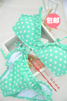 Polka dot bikini swimwear set