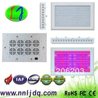 customized Led grow light 288*3watt 120pcs deep red(660nm) 120pcs red(630nm) 40pcs blue(460nm) 2pcs(UV380nm) 6pcs white(14000K)