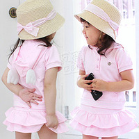 2013 summer wings girls clothing baby child casual set tz-0342