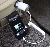 Free shipping in stock new band white phone charge   to USB car charger foriphone 5G 5c