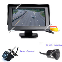 Visible Driving setFront cameraLED night vision automobile rearview camera and monitor system(auto reversing aid system) (car ba